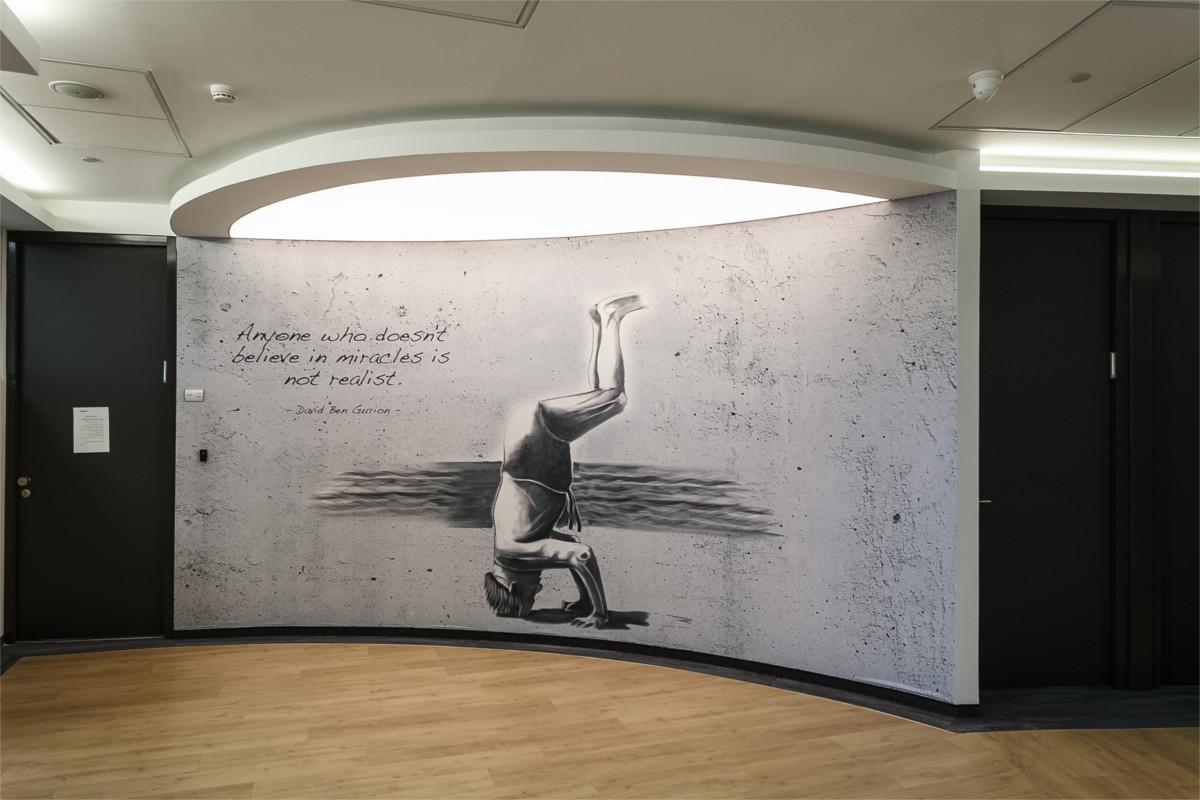 פרויקט מיתוג קירות בחברת 'פנסוניק' ביקנעם